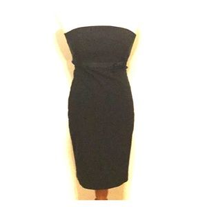 Ring in the New Year Black Strapless Dress